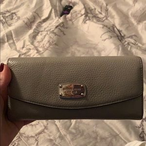 Gray with silver Michael Kors wallet - barely used